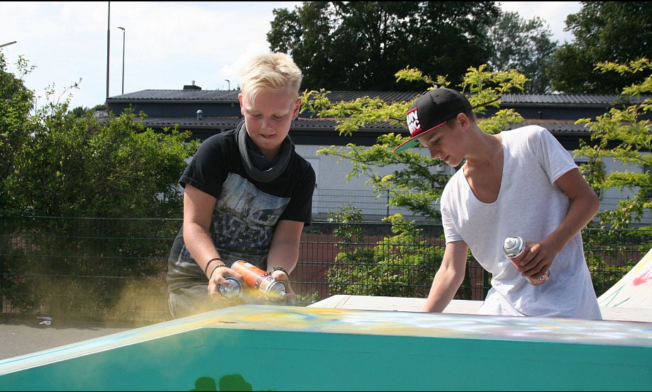 Skatepark Werrerstrasse Herford- Graffiti Workshop
